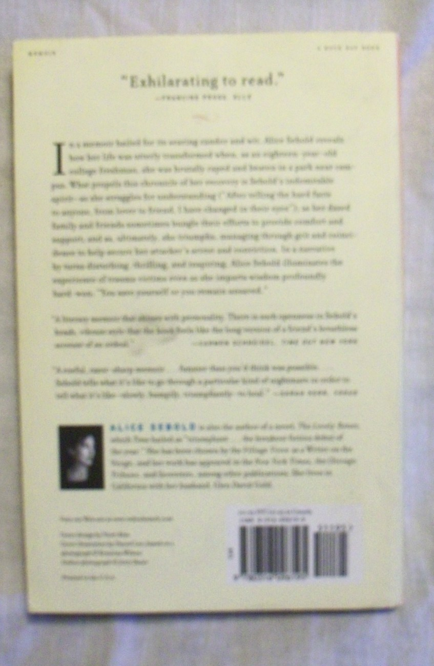 Lucky a Memoir by Alice Sebold Softcover NICE Reader group guide