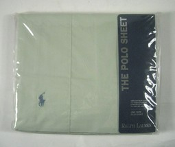 NEW Ralph Lauren Home Polo Pony One Twin Flat Sheet Embroidered Celadon ... - $42.08