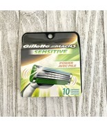 10 Gillette Mach3 Sensitive Power Mach 3 Razor Blade Shaver Refill Cartr... - $58.90