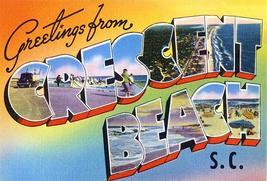 Greetingsfromcrescentbeach southcarolina 1930 s vintagepostcardpostersmall thumb200