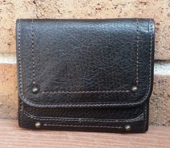 Banana Republic BR Collection Black Leather Trifold Organizer Wallet J11 - $15.50