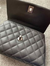 AUTHENTIC BRAND NEW CHANEL QUILTED BLACK CAVIAR SMALL COCO PYTHON HANDLE BAG RHW image 7