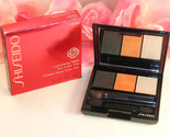 New Shiseido Luminizing Satin Eye Color Trio OR302 .1oz 3g Grey Orange Highlight
