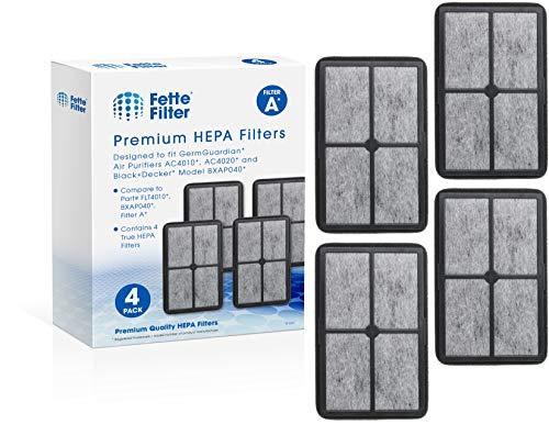 Fette Filter - Air Purifier Filter Compatible with GermGuardian FLT4010 Models A