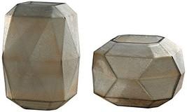 Uttermost Luxmi Textured Aged Gray 2-Piece Glass Vase Set - $195.80