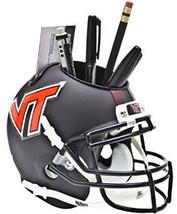 Virginia Tech Hokies Black NCAA Football Schutt Mini Helmet Desk Caddy - $21.95
