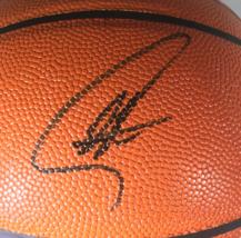 STEPH CURRY & KLAY THOMPSON / DUAL AUTOGRAPHED NBA LOGO FULL SIZE BASKETBALL COA image 2