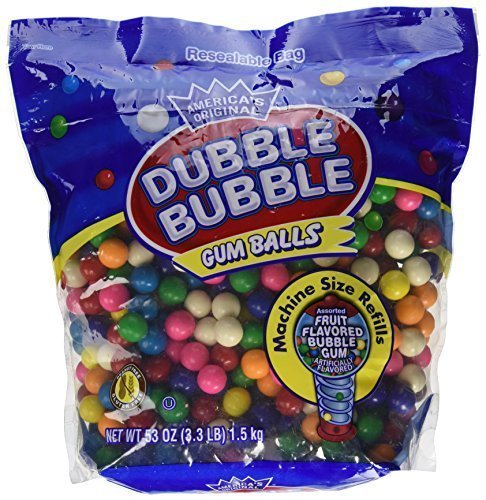 Primary image for Dubble Bubble Gumball Refill 53 OZ Resealable Bag (Pack of 6)