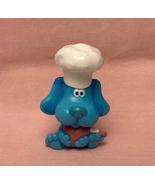 Blue's Clues PVC figure plastic cake topper Blue in chef hat vintage 199... - $8.00