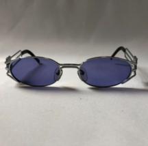Jean Paul Gaultier Vintage Sunglasses Logo Frame Silver Used - $227.69