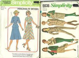 2 Vintage Women Patterns Shirt Pants Skirt Jacket Sz 14 - $7.91