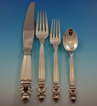 Acorn by Georg Jensen Sterling Silver Flatware Set For 8 Service 34 Pieces - $4,495.50