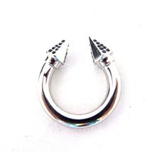 K-VF2100 New Authentic Vita Fede Titan Thea Sliver Ring Swarovski Crystal Sz 8 - $189.99