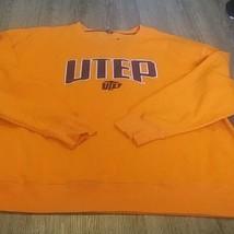 new Champion Elite utep Pullover Sweatshirt  Mens 2XL orange - $19.79