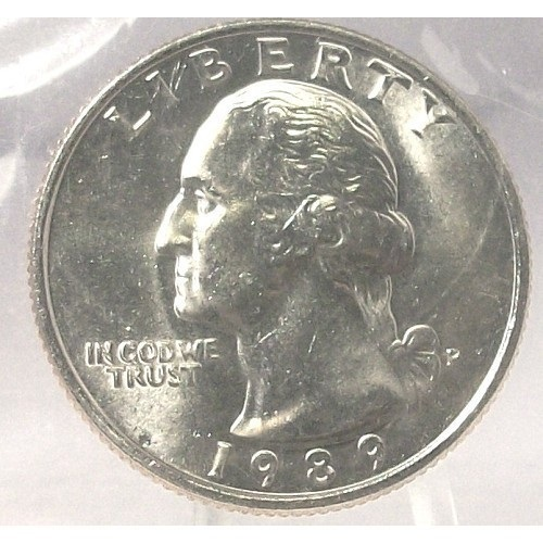 1989-P Washington Quarter MS65 In the Cello  #366