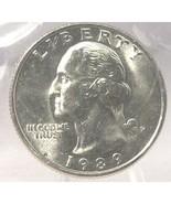 1989-P Washington Quarter MS65 #0366 - $7.59