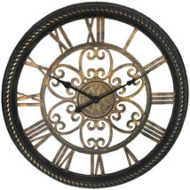 Westclox(R) 32949BK 19.5 Wall Clock with Antique Black and Gold Finish - $39.71