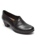 Womens Rockport Cobb Hill Abbott Slip-On - Black Leather, Size 7 M US [C... - $114.99