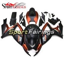 Orange Matte Black ABS Fairings For Suzuki GSXR600 750 K6 2006 2007 Body... - $502.95