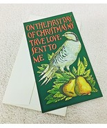 Nov 10, 1971 Christmas Stamps 1st Day of Issue in Card Partridge - $9.41