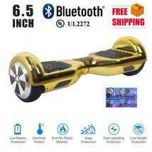 Chrome Gold Bluetooth Hoverboard Two Wheel Balance Scooter Free Shipping... - $249.00