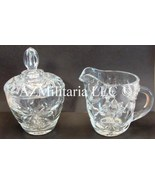 Anchor Hocking Creamer and Sugar Bowl Early American Prescut USA - $15.75