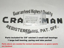 "Craftsman Ratchet repair parts  3/8"" Round head fine tooth Fits #43781 READ - $8.94 CAD"