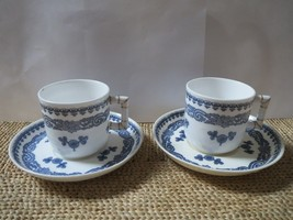 ROYAL WORCESTER-PAIR OF DEMITASSE CUPS/SAUCERS-Made for Abram French Co.... - $30.00
