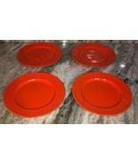 """Royal Norfolk Royal Orange7 1/2""""Stoneware Dinnerware Saucer Plates Set O... - $29.28"""