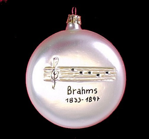 Brahms Classical Music Musician Christmas Tree Ornament