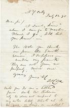 "SAMUEL S. ""SUNSET"" COX 1875 AUTOGRAPH LETTER - U.S. CONGRESSMAN OHIO & NY - $74.25"