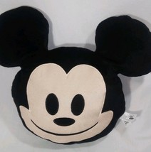 """Disney Mickey Mouse Emoji Plush Smiley Face Happy Pillow 2016 Just Play 12"""" - $16.33"""