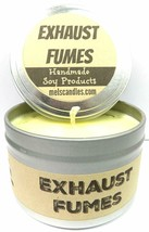 Exhaust Fumes (Great for Racers) 4oz All Natural Soy Candle Tin (Take It... - $6.45