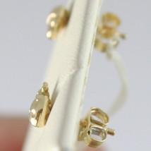 Yellow Gold Earrings 750 18k, Stud, Ladybug, Width 7 MM image 2