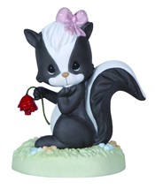 Precious Moments Our Love is Heaven Scent Porcelain Skunk Flower Figurin... - $18.66