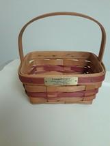 LONGABERGER Christmas Collection 1987 Edition Mistletoe Basket Signed - $19.75