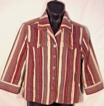 AWESOME CHRISTOPHER AND BANKS STRETCH STRIPED WOMEN'S SHIRT - $19.95