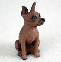 MINIATURE PINSCHER (RED) TINY ONES DOG Figurine Statue Resin Pet Lovers - $8.99