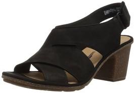 CLARKS Women's Sashlin Nolte Heeled Sandal, Black Nubuck, 8 Medium US - €108,47 EUR