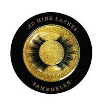 SamHelen 100% Handmade Siberian Mink Eyelashes | Emerald | Reusable 3D M... - $24.54