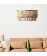 Anthropologie Sonora Chandelier Organic Coastal Modern Beaded Brass Roun... - $2,498.00