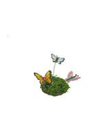 Butterfly and Grass Accent Figurine, Garden Butterflies, Terrarium Butte... - $8.99