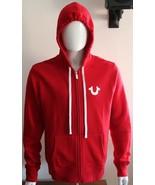 True Religion Men's Budha Past Hoodie Full Zip Sweatshirt Rubi Red Size L - $99.99
