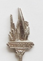 Collector Souvenir Spoon Curacao Statue Figural Yacht Queen Juliana Brid... - $14.99