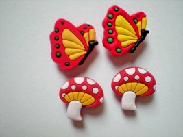 Clog Shoe Plug Button Charm Fit Accessorie Belt WristBand Butterfly - $8.99