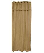 Burlap Shower Curtain Country Bath Farmhouse Cabin  - $39.99