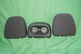 11-15 Dodge Journey 2nd Row Black Cloth 3 Headrests Headrest w/ Cupholder image 5