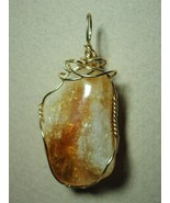 Citrine Pendant Wire Wrapped 14/20 Gold Filled Handmade by Jemel     - $47.00