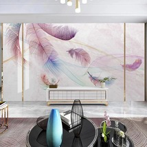 """3D Wallpaper """"Floral Feathers"""" - $35.00+"""