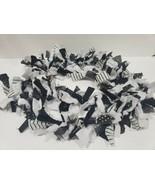 Halloween Black White Stipe Polka Dot Rag Garland Decor 6FT - $19.99